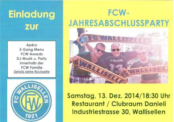 FCW-Jahresabschluss-Party - Flyer & Einladung_1