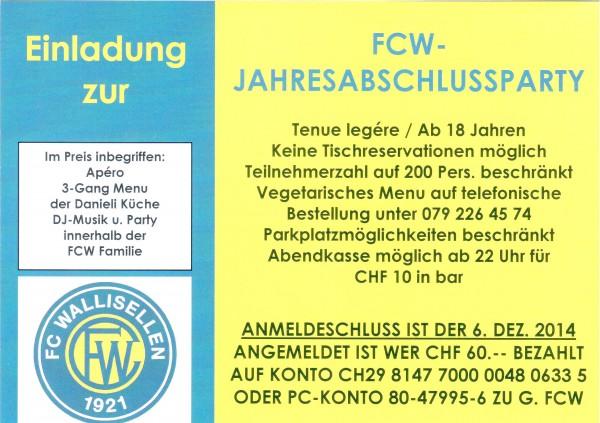 FCW-Jahresabschluss-Party - Flyer & Einladung_2
